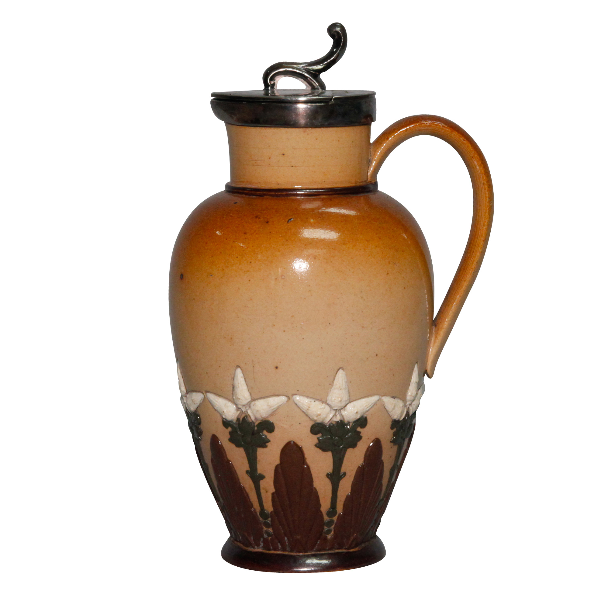 Stoneware Lidded Pitcher