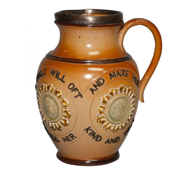 Stoneware Sayings Pitcher