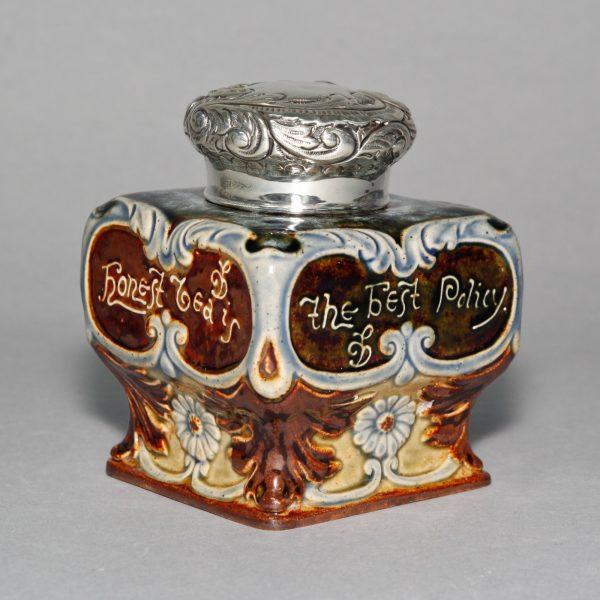 Tea Caddy Honest Tea - Doulton Lambeth Stoneware