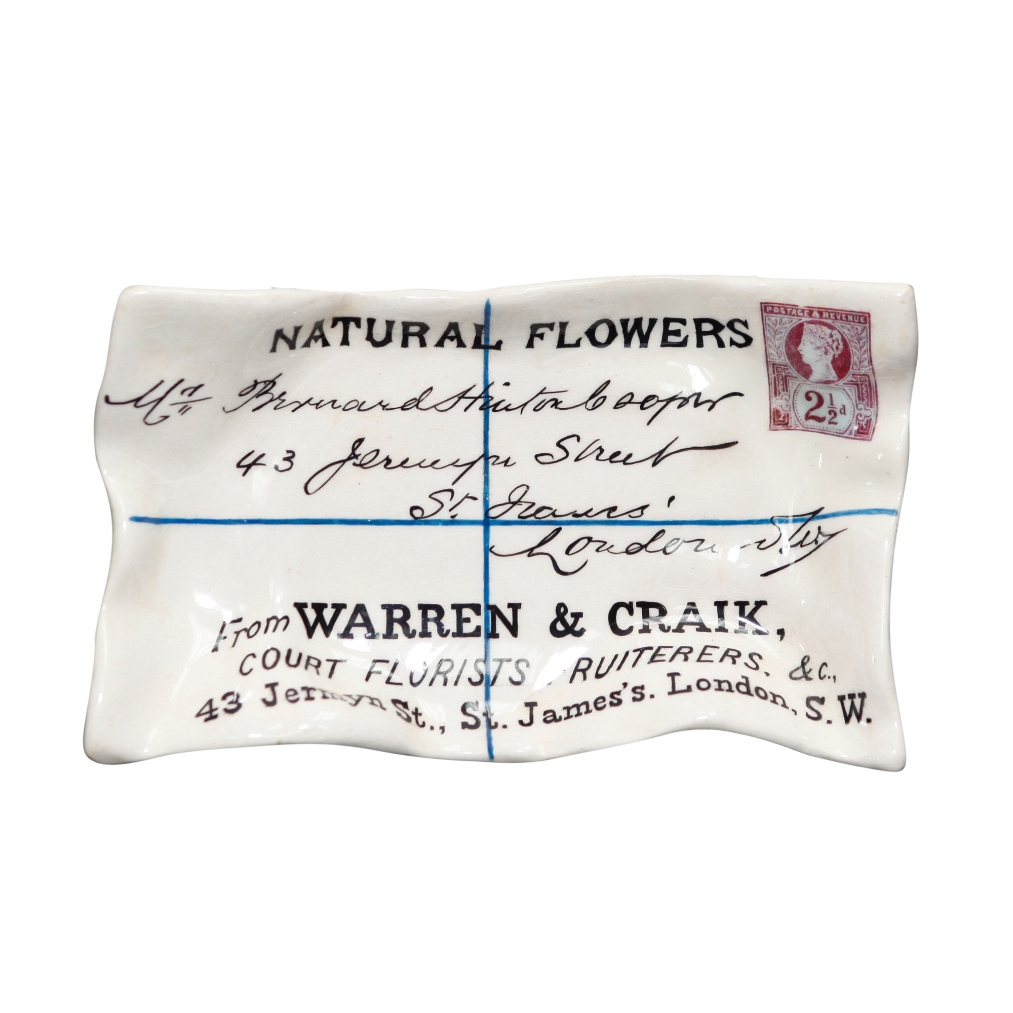 Natural Flower Advertising Ashtray