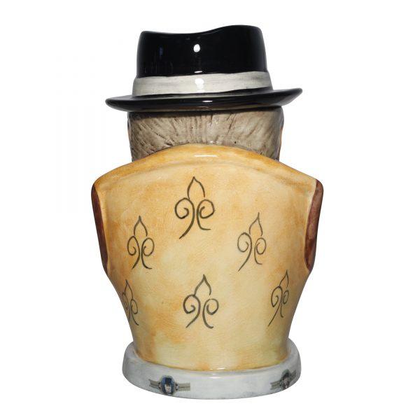 Winston Churchill Prototype Lidded Cigar Jar 2014 (Dark blue suit striped tie) - Bairstow Manor Collectables