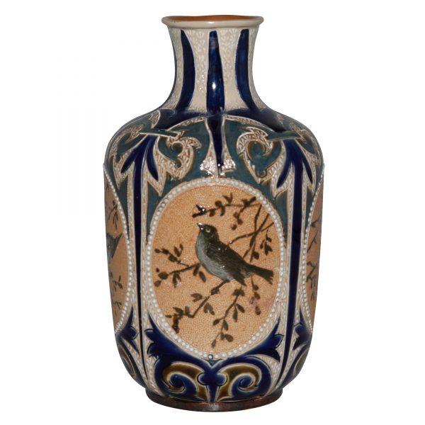 Vase with Birds FEB - Doulton Lambeth