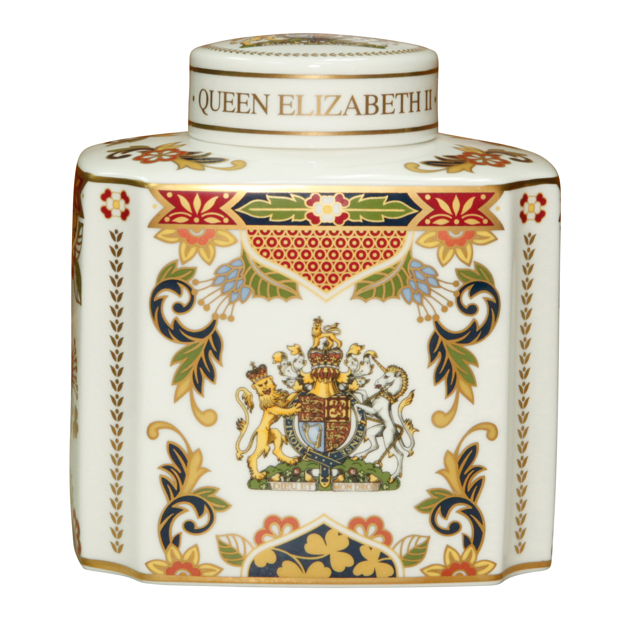 Elizabeth II Tea Caddy - Royal Doulton Commemorative