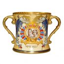 George VI Eliz Loving Cup Canadian - Royal Doulton Commemorative