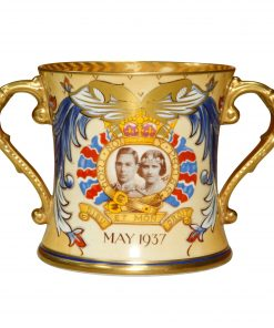 George VI Eliz Loving Cup Canadian - Royal Doulton Commemorative
