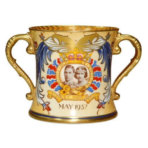 George VI Shelley Loving Cup - Royal Doulton Commemorative