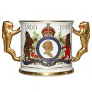 Queen Elizabeth 80th Loving Cup - Royal Doulton Commemorative