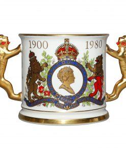 Queen Elizabeth 80th Loving Cup - Royal Doulton Commemorative