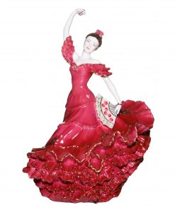 Flamenco Dancer Red - Coalport Figurine