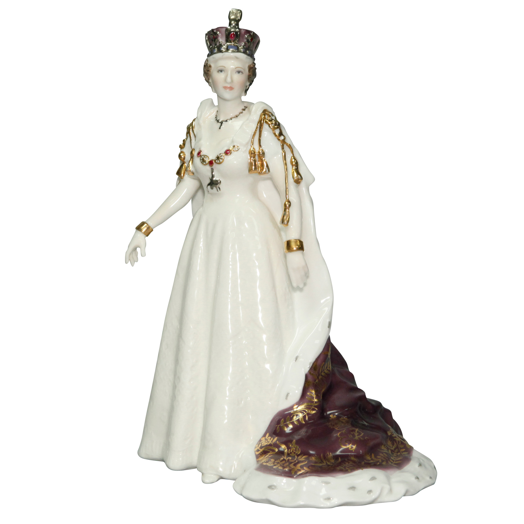 Queen Elizabeth II - Royal Worcester Figurine