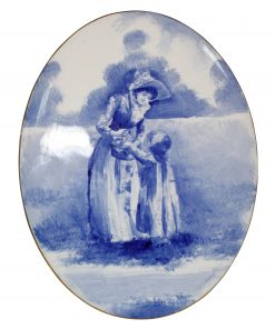 Blue Children Oval Plaque - Royal Doulton Seriesware