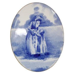 Blue Children Oval Plaque - Royal Doulton Seriesware