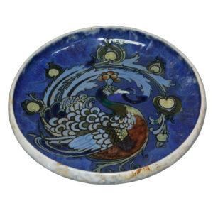 Bowl Peacock Francis Pope - Doulton Lambeth Stoneware