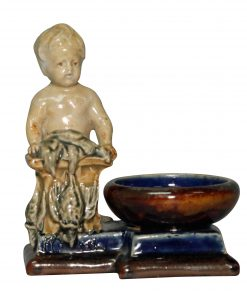 Boy with Clarinet Open Salt - George Tinworth Figurine