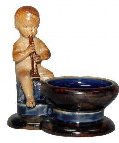 Boy with Clarinet Open Salt - George Tinworth Figurine