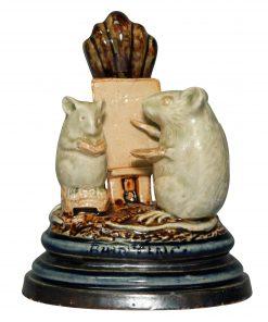 Painting Mouse Group Menu - George Tinworth Figurine
