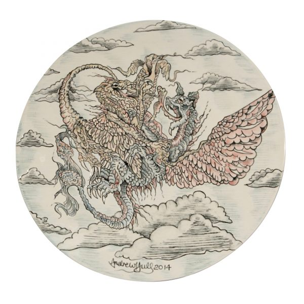 Dragon Charger - Andrew Hull Pottery