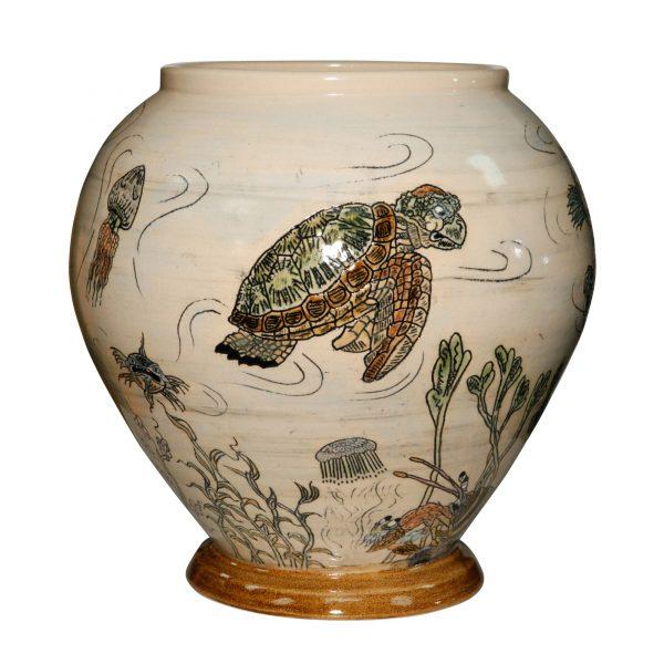 Fish Vase Large - Andrew Hull Pottery