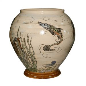 Fish Vase Large - Andrew Hull Pottery