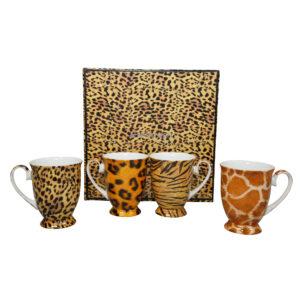 Go Wild Set of 4 Mugs