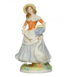 Goose Girl RW4566 - Royal Worcester Figurine