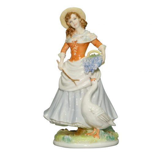 Goose Girl RW4566 - Royal Worcester Figurine
