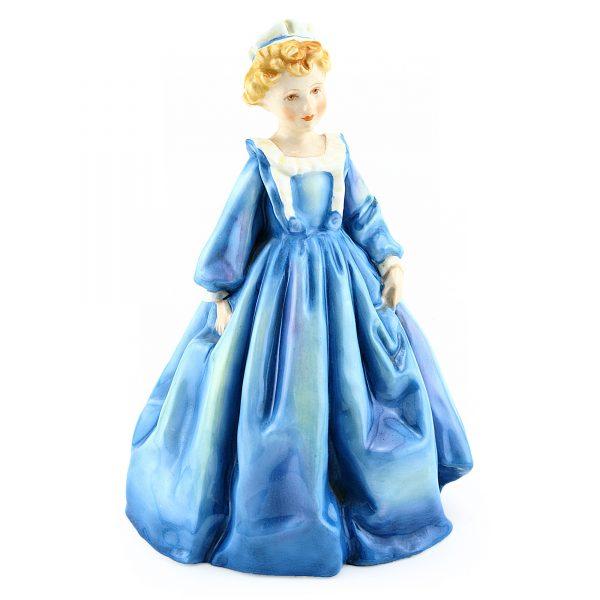 Grandmothers Dress Blue RW3081BL_G - Royal Worcester Figurine