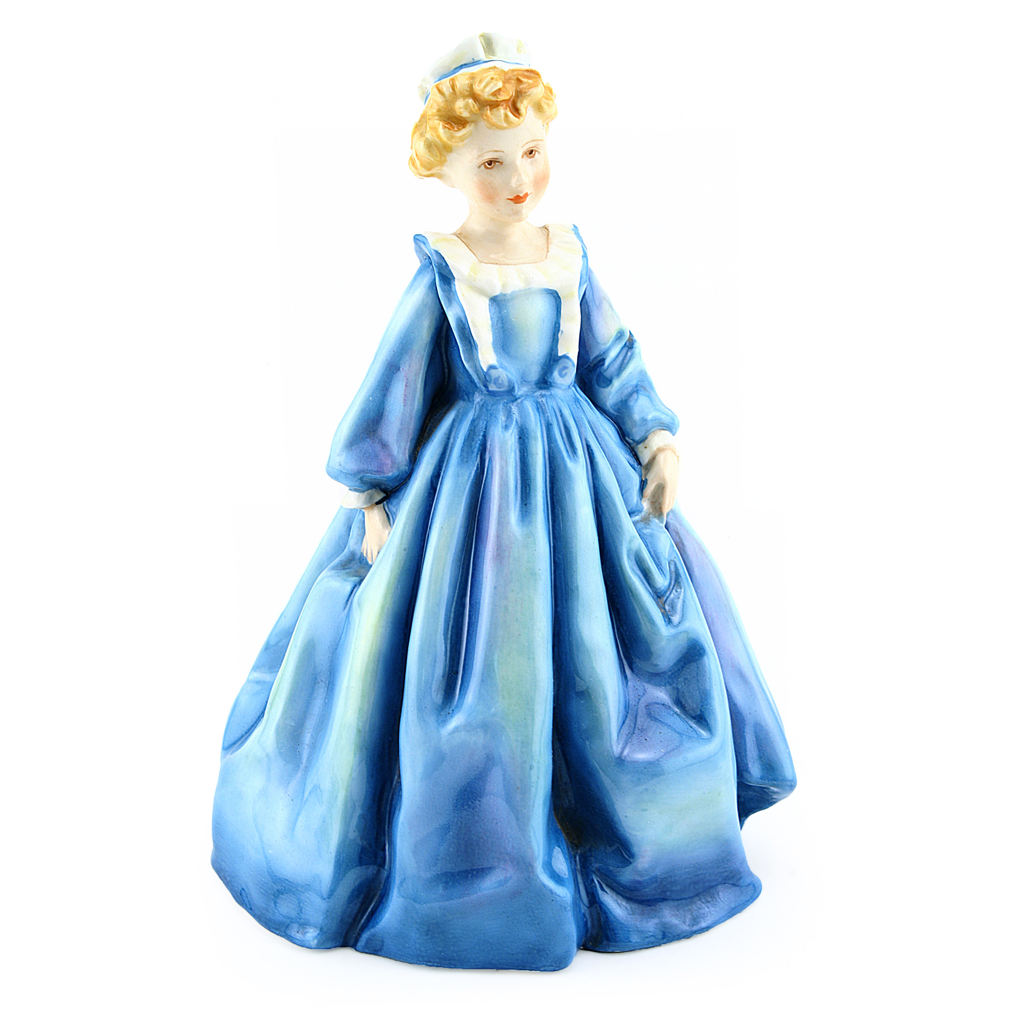 Grandmothers Dress Blue RW3081BL_G - Royal Worcester Figurine