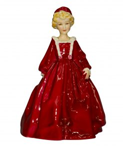 Grandmothers Dress Red RW3081 - Royal Worcester Figurine