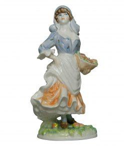 Rosie Picking Apples RW4322 - Royal Worcester Figurine