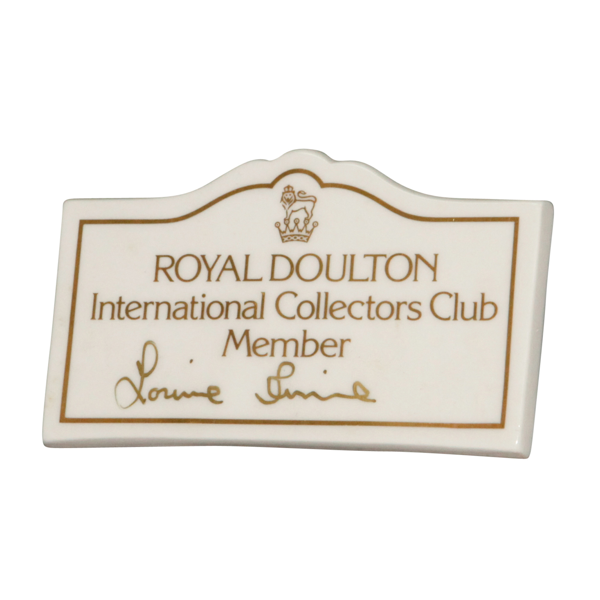 Doulton Sign Tabletop RDICC