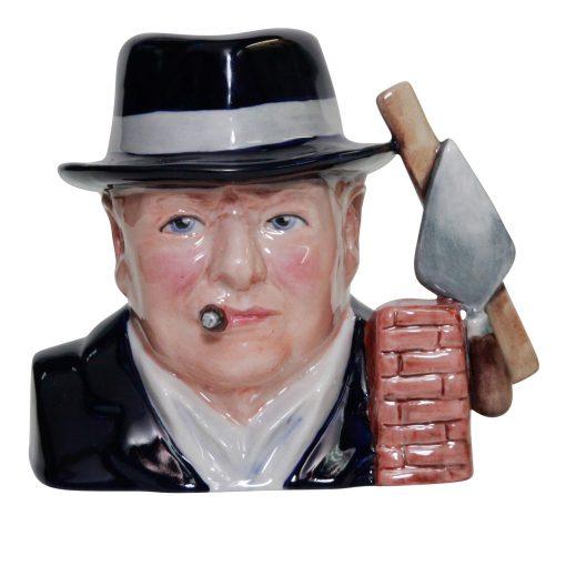Bairstow Manor Winston Churchill Bricklayer Character jug small