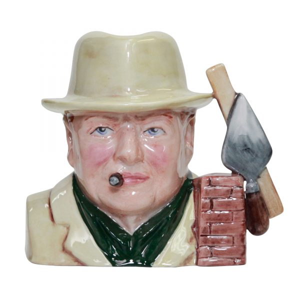 Bairstow Manor Winston Churchill Bricklayer Small Character jug