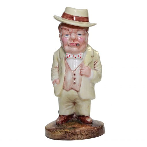 Bairstow Manor Winston Churchill Figure with Bulldog