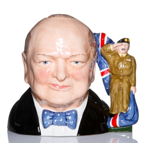 Bairstow Manor Winston Churchill Large Army character Jug