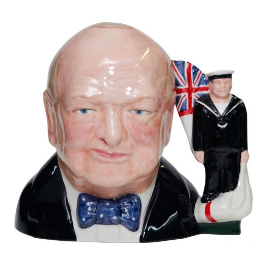 Bairstow Manor Winston Churchill Navy Jug