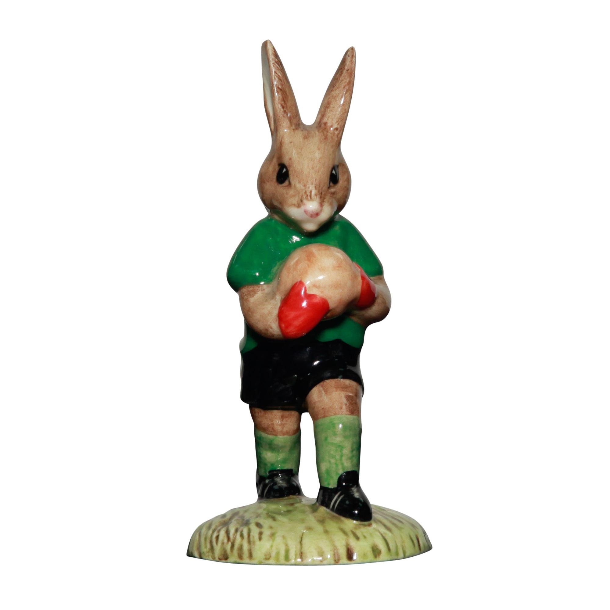 Goalkeeper; green & black DB116 - Royal Doulton Bunnykins