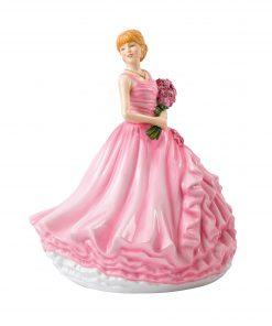 I Love You (Red Rose) HN5837 - Royal Doulton Figurine