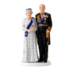 Platinum Wedding Anniversary - QEII 70th Anniversary HN5874 - Royal Doulton Figurine