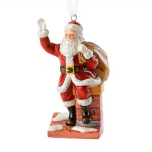 Santa On Chimney Ornament HN5863 - Royal Doulton Figurine