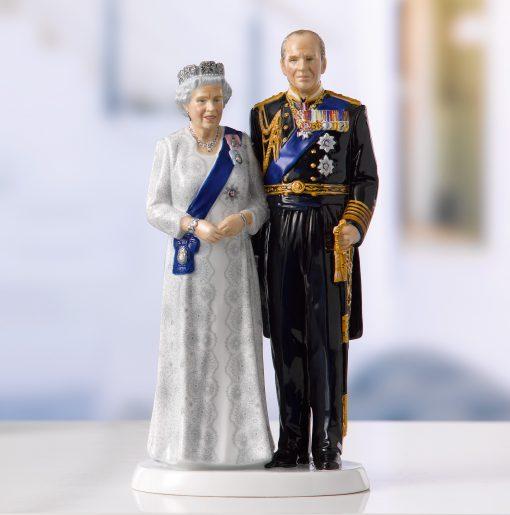 Platinum Wedding Anniversary - QEII 70th Anniversary HN5874 - Royal Doulton Figurine