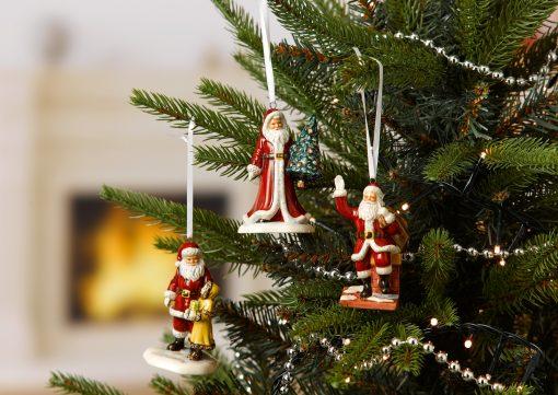Santa & Girl Ornament HN5862 - Royal Doulton Figurine