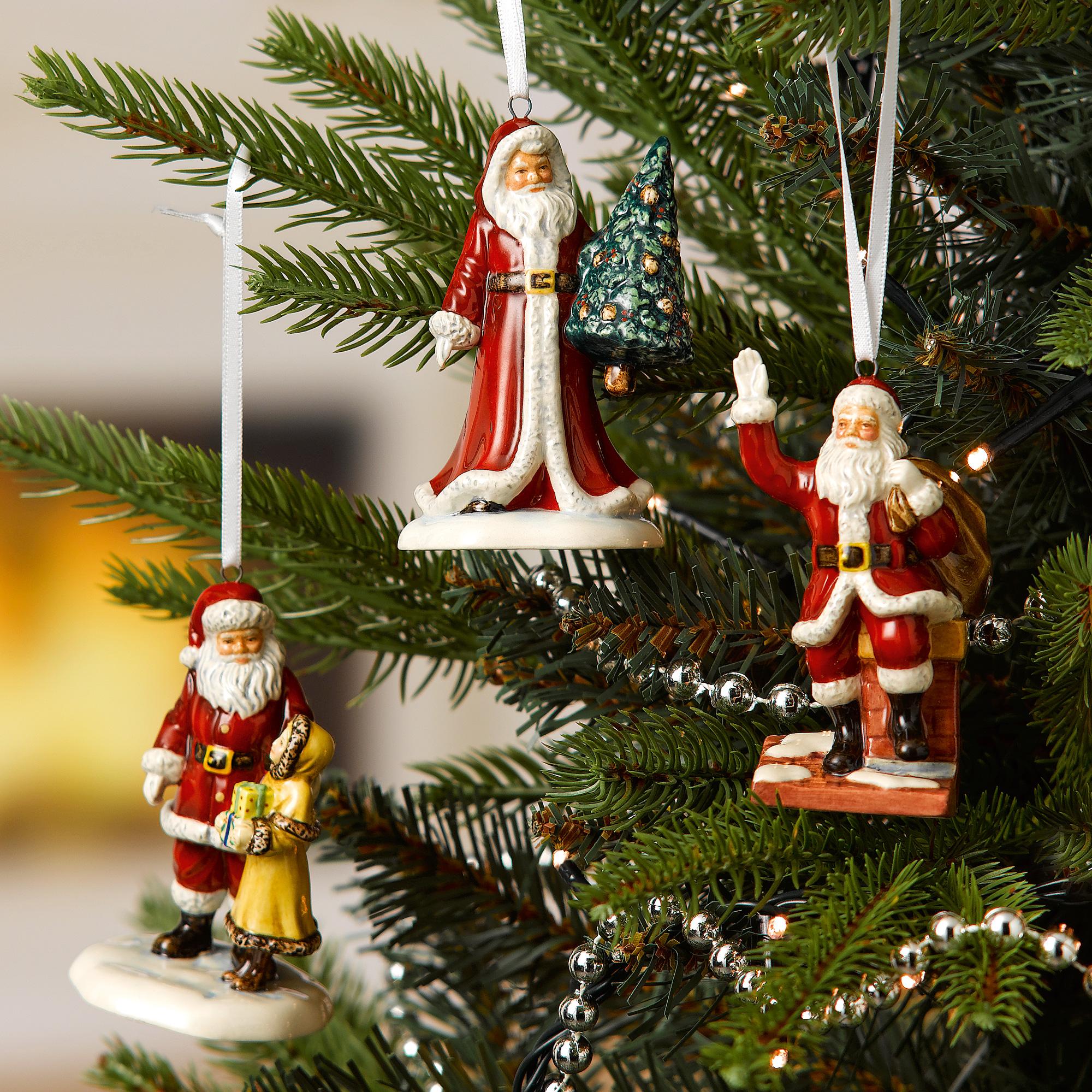 Santa & Tree Ornament HN5861