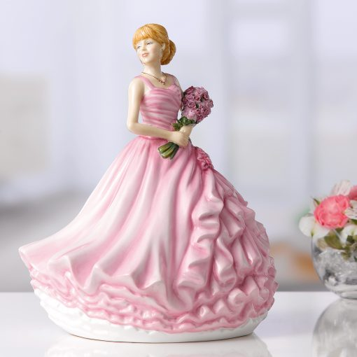 I Love You (Red Rose) HN5837 - Royal Doulton Figurine
