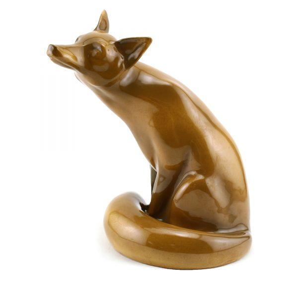 Fox Seated-Brown Glaze HN130BRGLZ - Royal Doulton Animal