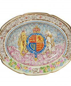 George VI Eliz Platter Paragon - Commemorative