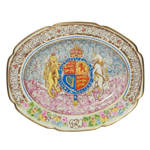 George VI Eliz Platter Paragon - Commemorative