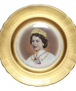 QE II Coronation Plate Aynsley Diamon Jubilee - Commemorative