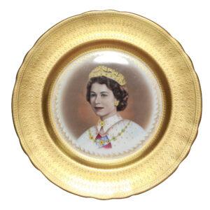 QE II Coronation Plate Aynsley Diamon Jubilee - Commemorative