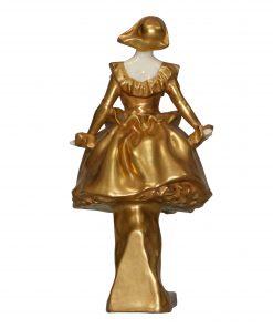 Harlequinade Woman (Gold) HN635 - Royal Doulton Figurine
